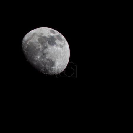 Moon image with telephoto lens
