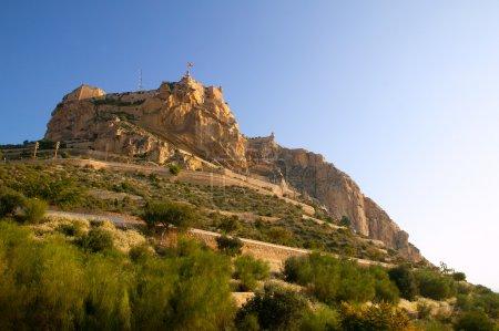 Alicante Santa Barbara Castle in Spain