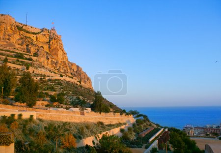 Alicante Santa Barbara Castle in Spain