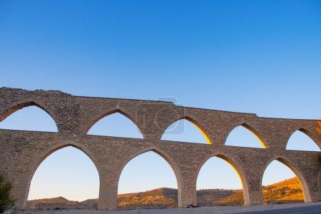 Morella aqueduct in Castellon Maestrazgo at Spain