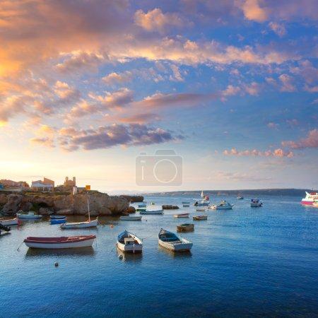 Tabarca islands boats in alicante Spain