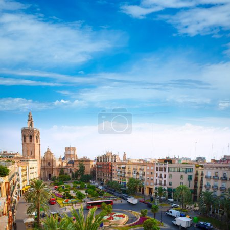 Valencia historic downtown El Miguelete and Cathedral
