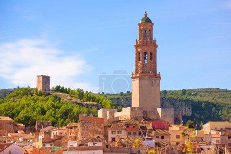 Jerica Castellon village skyline in Alto Palancia of Spain