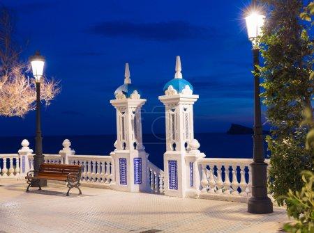 Benidorm sunset Alicante Balcon Mediterraneo in Spain