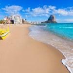 Calpe playa Arenal Bol beach near Penon de Ifach a...