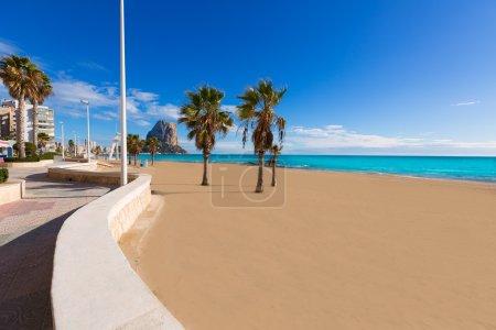 Calpe playa Arenal Bol beach near Penon Ifach Alicante