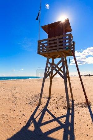 Canet de Berenguer beach in Valencia in Spain
