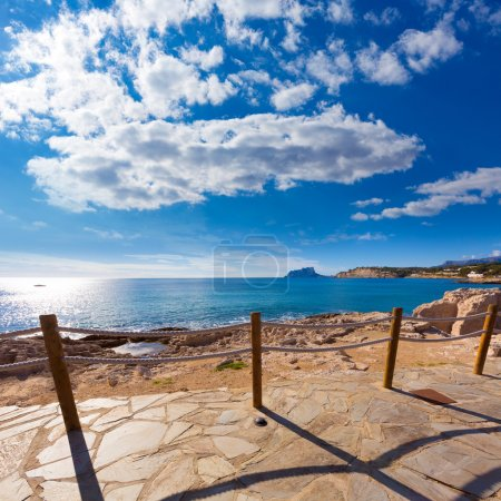 Moraira in Mediterranean Alicante at Spain