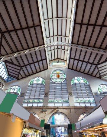 Valencia Mercado Central market  indoor entrance Spain
