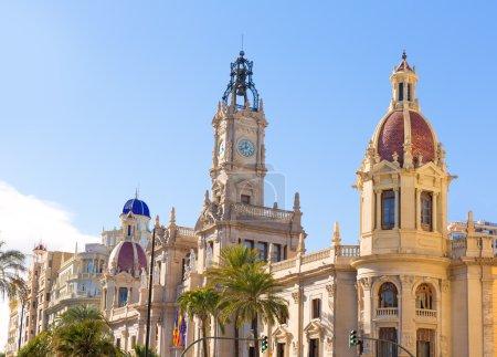 Valencia Ayuntamiento city town hall building Spain