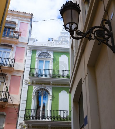 Valencia Tapineria street near Plaza de la Reina Spain