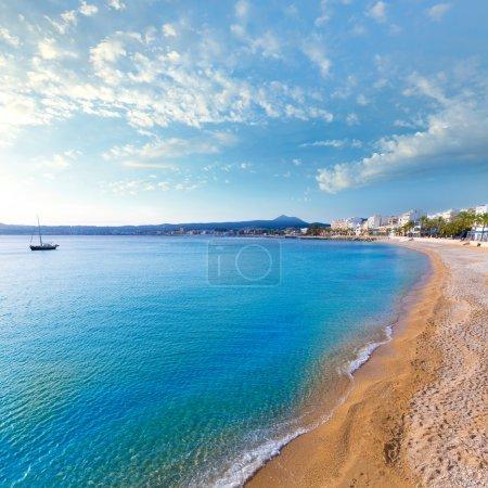 Javea Xabia Playa La Grava beach in Alicante Spain