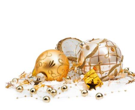 Foto de Decoración navideña sobre fondo blanco - Imagen libre de derechos