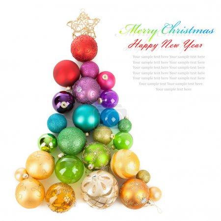 Christmas tree of colored balls