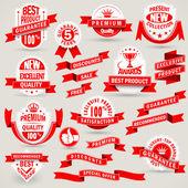 Premium set of labels and ribbons