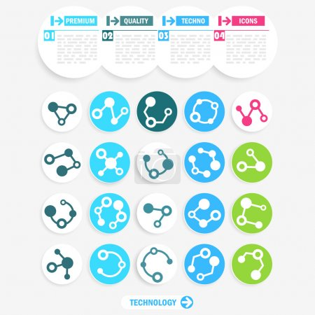 Illustration for Set of abstract technology icons - Royalty Free Image
