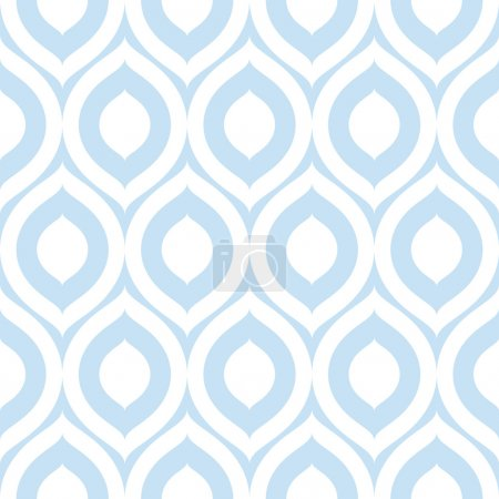 Illustration for Abstract seamless ornament pattern vector illustration - Royalty Free Image