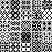 Set of black and white abstract patterns vector illustration