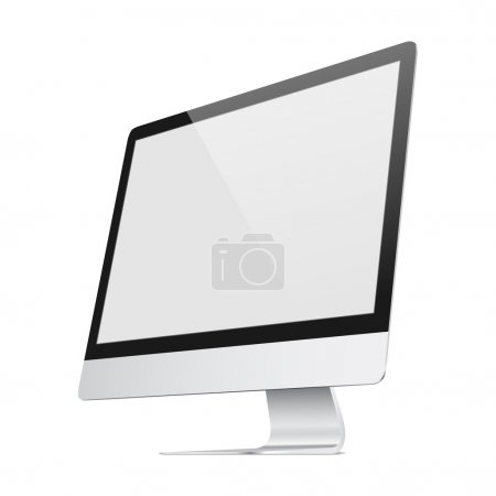 Illustration for Vector realist illustration of a very flat screen - Royalty Free Image