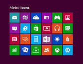 Icons from metro interface used for Windows 8