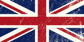 Illustration of a vintage United Kingdom flag
