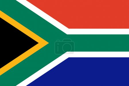 Vector illustration of the South African flag, the...