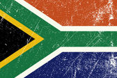 Vector illustration of the South African vintage flag the rainbow nation