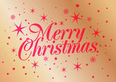 Vector illustration of Merry Christmas on gold background