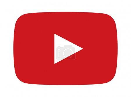 Illustration pour Bouton de lecture rouge de vecteur pour le célèbre site de streaming - image libre de droit