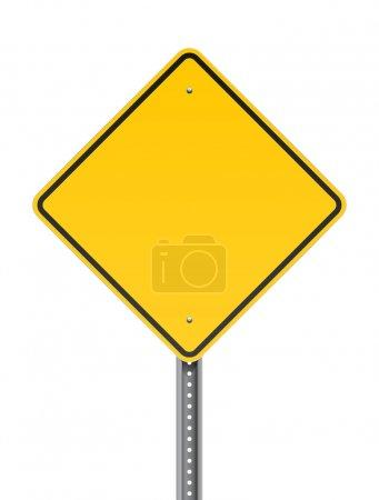 Illustration pour Illustration vectorielle d'un panneau d'avertissement jaune blanc - image libre de droit