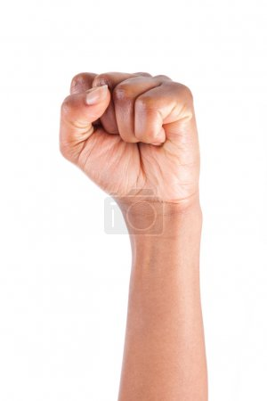 African American woman Hand with clenched fist