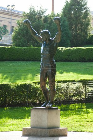 Rocky statue near art museum in Philadelphia -  Pennsylvania - U