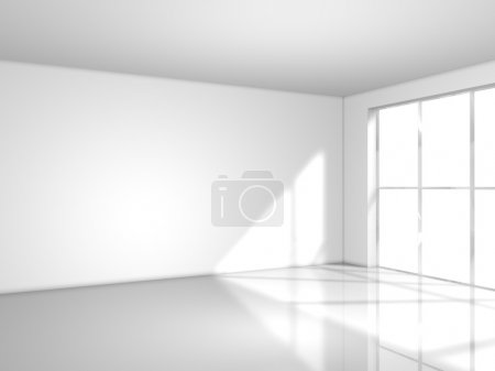 Photo for Light white room with window, 3d render - Royalty Free Image