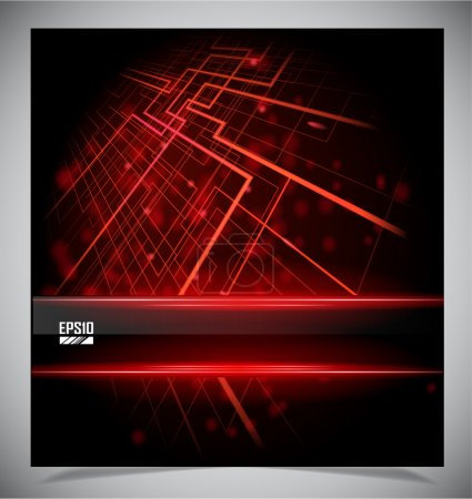 Illustration for Smooth colorful abstract techno background. Vector illustration - Royalty Free Image