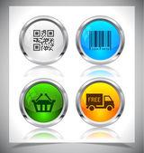金属の web ボタン。eps10 をベクトルします。