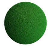 Koule zelené trávy