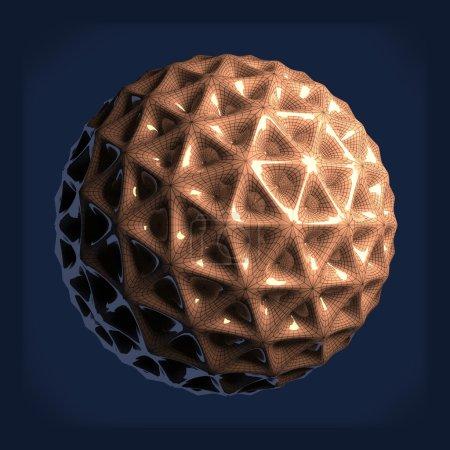 Photo pour Des bactéries artificielles. Gros plan. Illustration de rendu 3D - image libre de droit