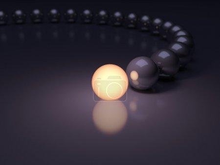Unique luminous sphere