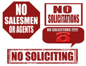 No soliciting-stamps