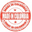 Grunge rubber stamp with text Made in Colombia,vec...