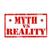 "Постер, картина, фотообои ""Миф против реальности штамп"""