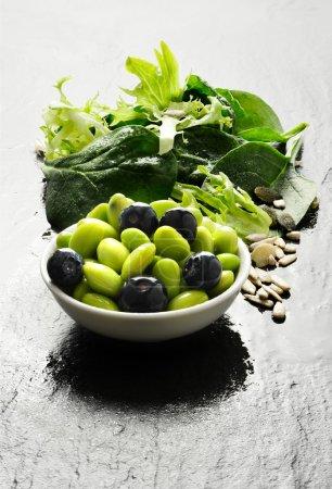Edamame Beans And Salad