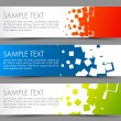 Simple colorful horizontal banners - with square m...