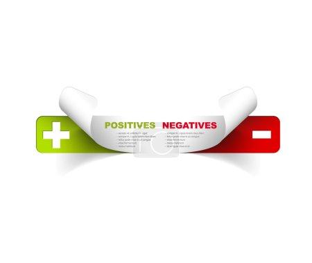 Ilustración de Plantilla vector para negativos y positivos - Imagen libre de derechos