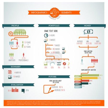 Big Vector set of Infographic element