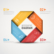 Vector colorful Abstract shape with Infographic el...