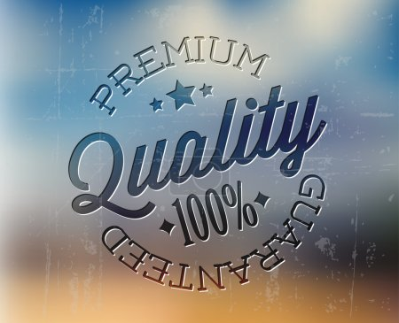 Vector retro premium quality detailed stamp