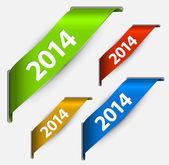 Stuha svěží barevné nový rok