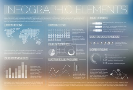 Illustration for White transparent Vector set of Infographic elements for your documents and reports - Royalty Free Image