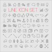 Big modern thin line icon set